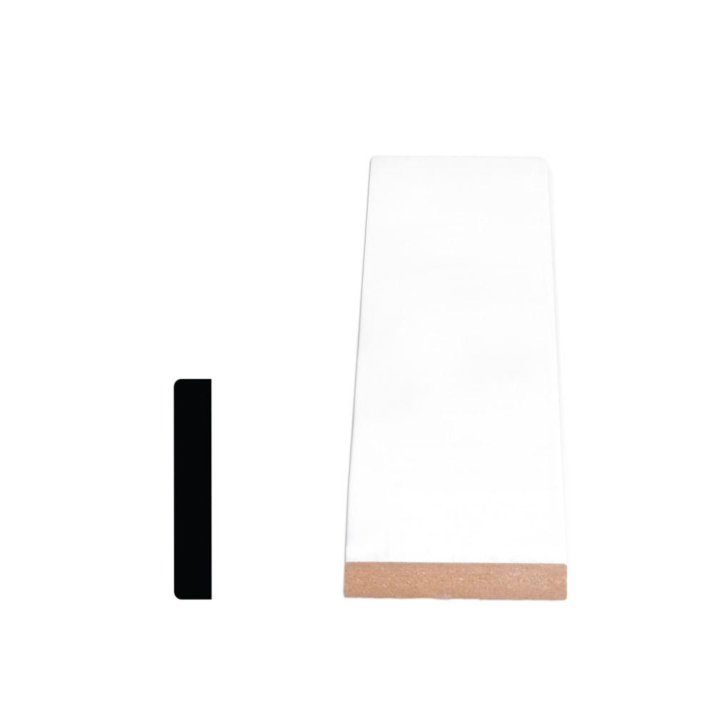 Painted Fibreboard Decosmart Casing 1/2 In. x 2-1/2 In. x 8 Ft.