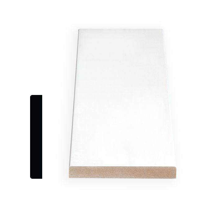 Painted Fibreboard Decosmart Base 1/2 In. x 3-1/2 In. x 8 Ft.