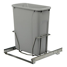 Bottom Mount Waste and Recycling Bin Fits 15inch (38.1 Centimeters) Wide Opening