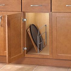 12.56-inch x 3.06-inch x 20.25-inch Tray Divider Cabinet Organizer