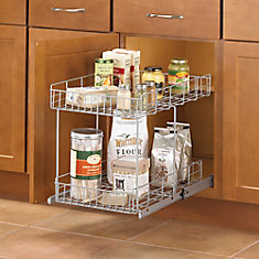 Kitchen Cupboard Organizers Canada Cabinet organization the home depot canada double tiered wire roll out workwithnaturefo