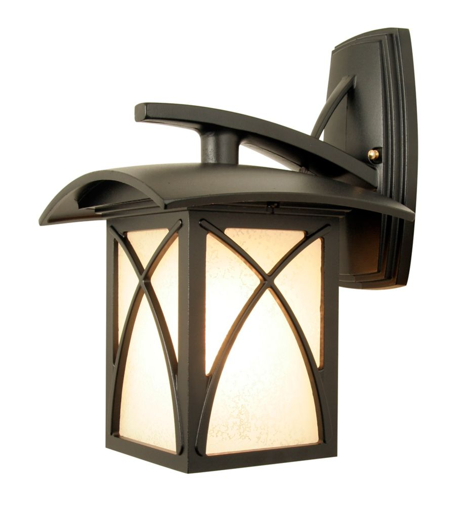 Luxia, Downlight Wall Mount, Clear Beveled Glass, Black