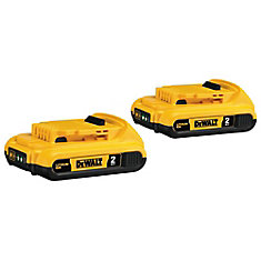 20V MAX Lithium-Ion Compact Battery Pack 2.0Ah (2-Pack)