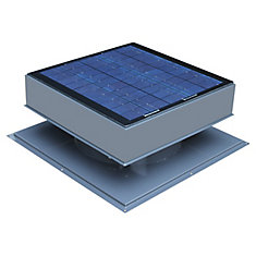 30W 1550 CFM Grey Solar Powered Attic Fan