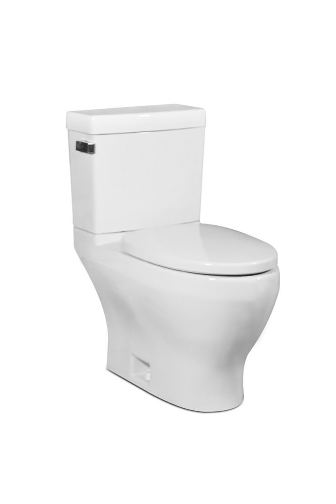 The Cadence 2-piece 4.8 LPF Single Flush Elongated Bowl Toilet in White