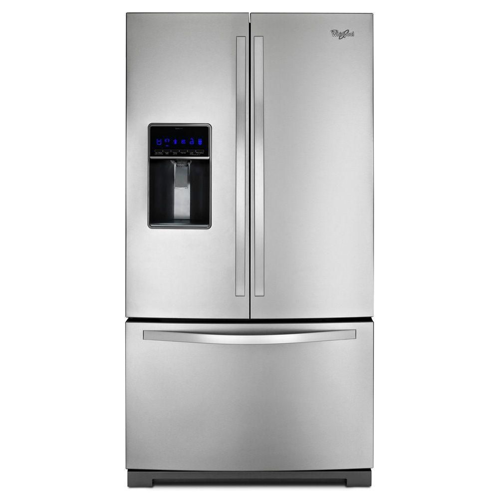 24.7 cu. ft. French Door Refrigerator with MicroEdge Shelves in Stainless Steel