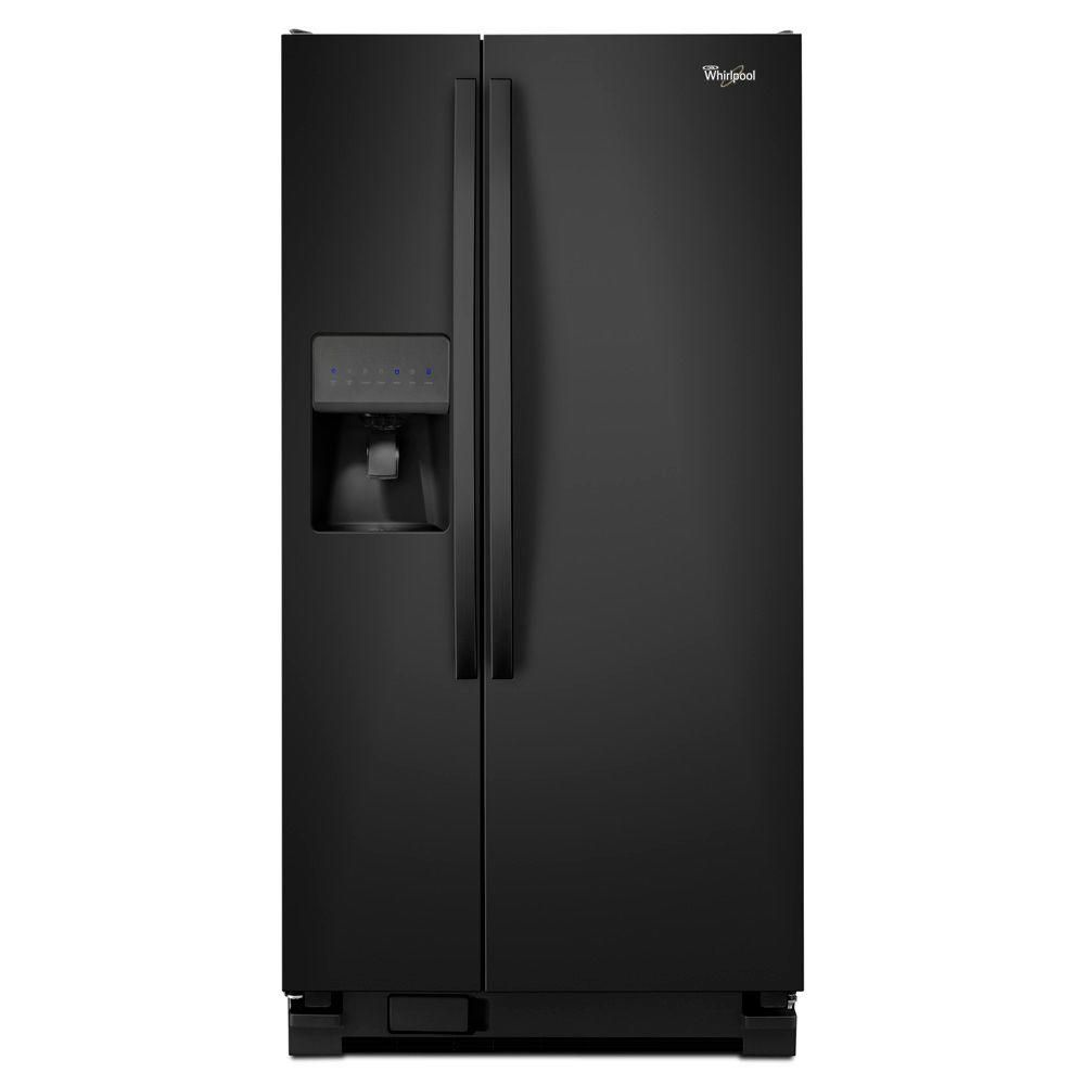 21.2 cu. ft. Side-by-Side Refrigerator with LED Lighting in Black
