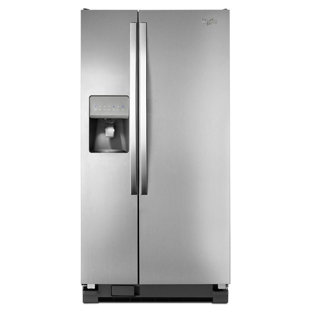 21.2 cu. ft. Side-by-Side Refrigerator with LED Lighting in Stainless Steel