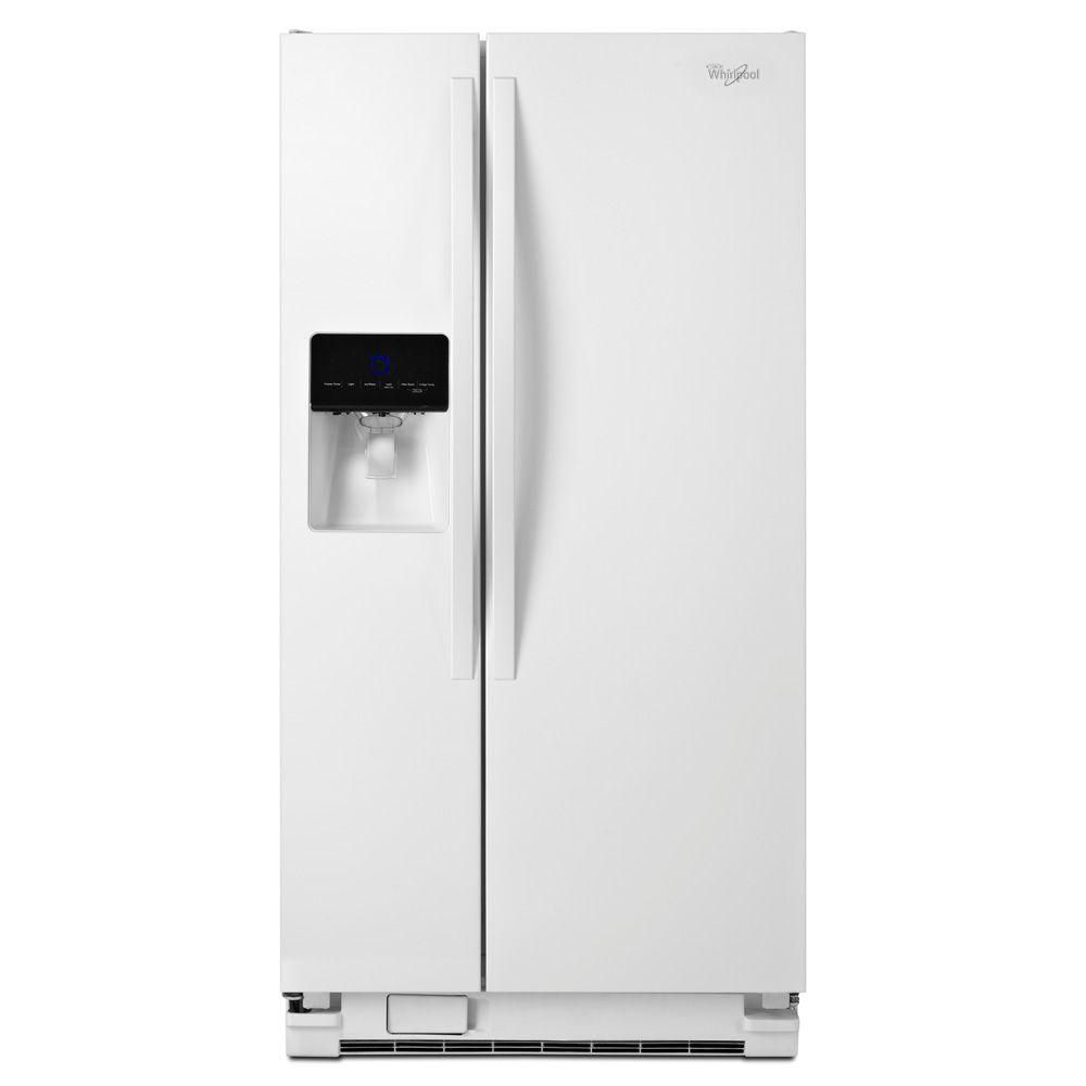 21.3 cu. ft. Side-by-Side Refrigerator with Water Dispenser in White