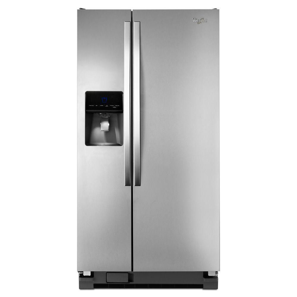 21.3 cu. ft. Side-by-Side Refrigerator with Water Dispenser in Stainless Steel