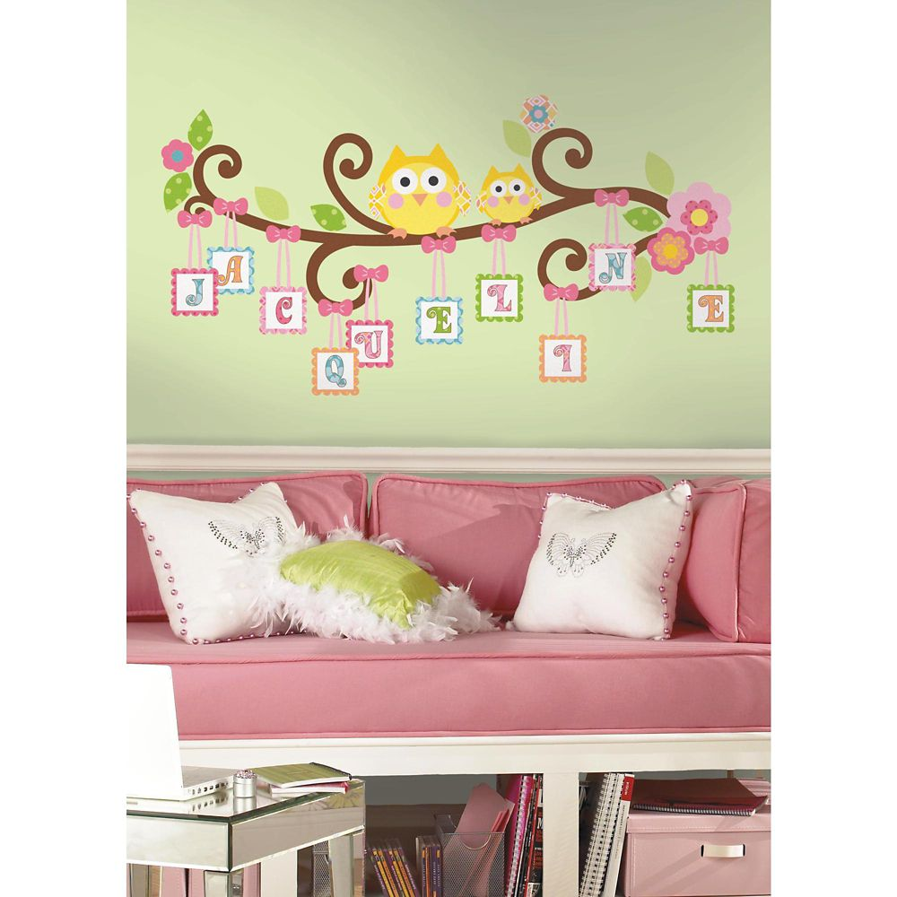 RoomMates Happi Scroll Tree Letter Branch Peel & Stick Giant Wall Decal