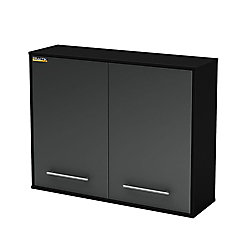 Karbon Wall Mounted Cabinet in Pure Black & Charcoal