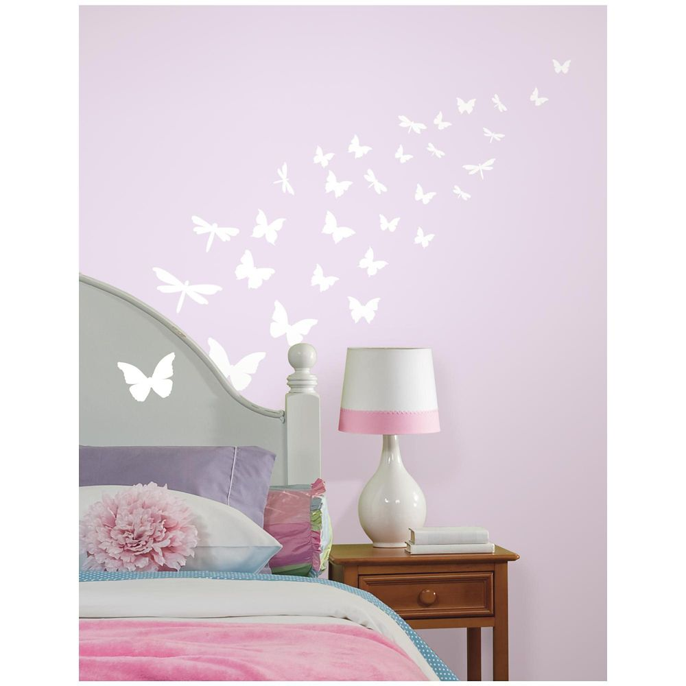 RoomMates Butterfly & Dragonfly Glow in the Dark Wall Decals