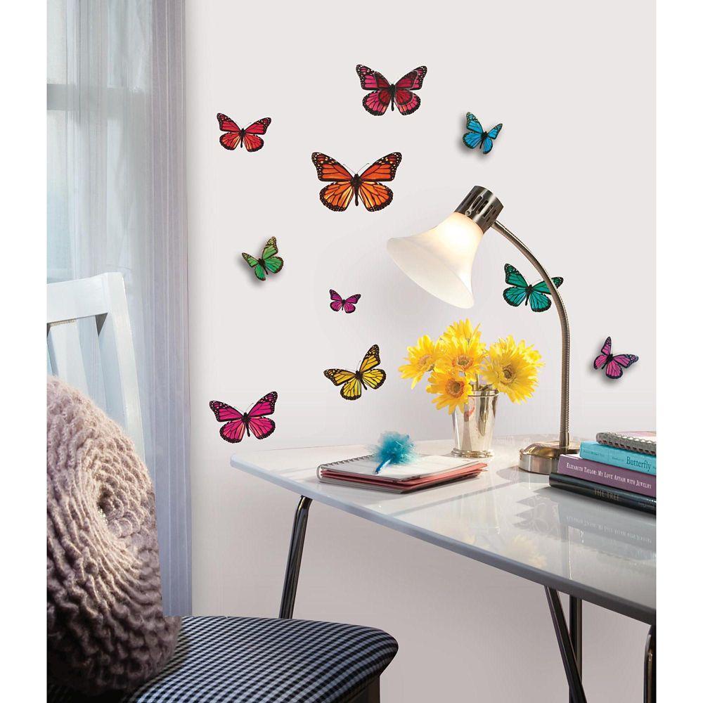 Stickers Muraux Butterfly 3D