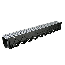 RELN Storm Drain Deep Series 40 inch Channel Drain with Portland Grey Grate