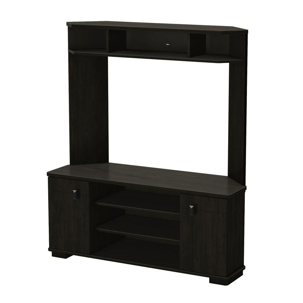 south shore meuble tv en coin vertex b ne the home. Black Bedroom Furniture Sets. Home Design Ideas