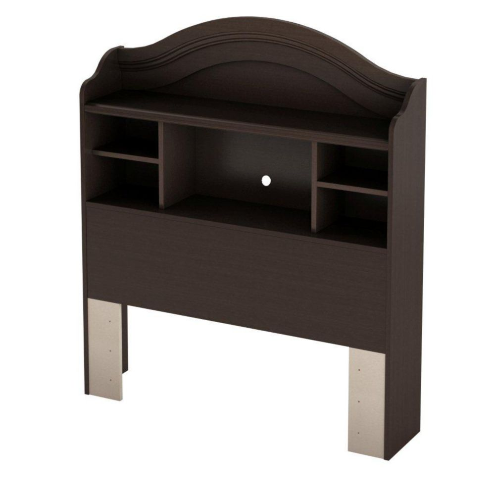 South Shore Sweet Lullaby Twin Bookcase Headboard Espresso