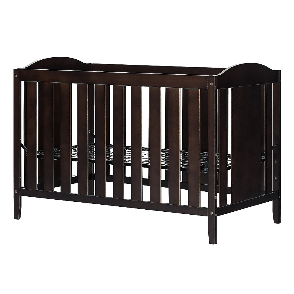 Angel Crib with Toddler rail, Espresso