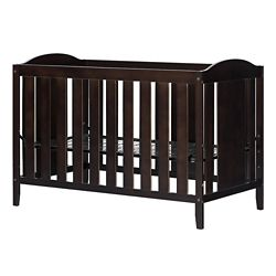 South Shore Angel Crib With Toddler Rail Espresso