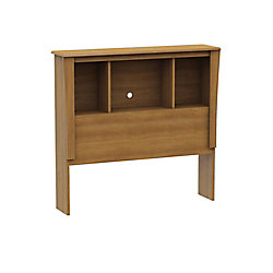 South Shore Mosaic Twin Bookcase Headboard Harvest Maple