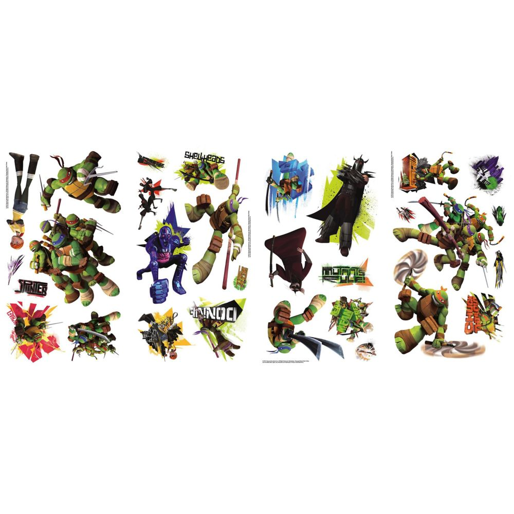 Nickelodeon-Teenage Mutant Ninja Turtles Peel & Stick Wall Decals