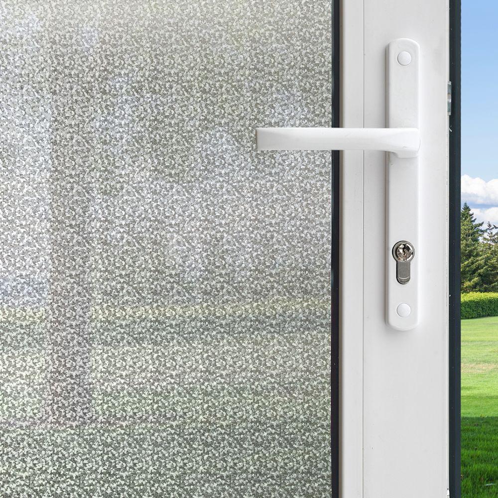 Pellicule pour fenêtres intimité motif Matin dhiver de 0,9 m x 2,0 m (3 pi x 6,5 pi)