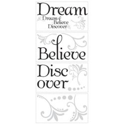 RoomMates Dream Believe Discover Peel & Stick Wall Decals