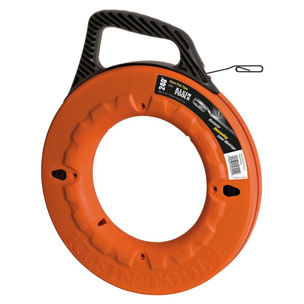 Depthfinder High Strength 1/8 Inch Wide Steel Fish Tape - 240 ft