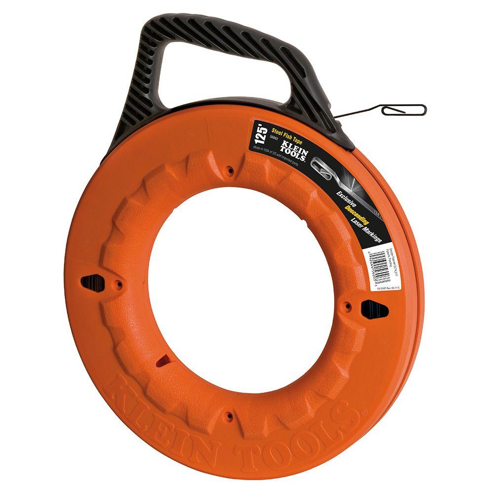 Depthfinder High Strength 1/8 Inch Wide Steel Fish Tape - 125 ft