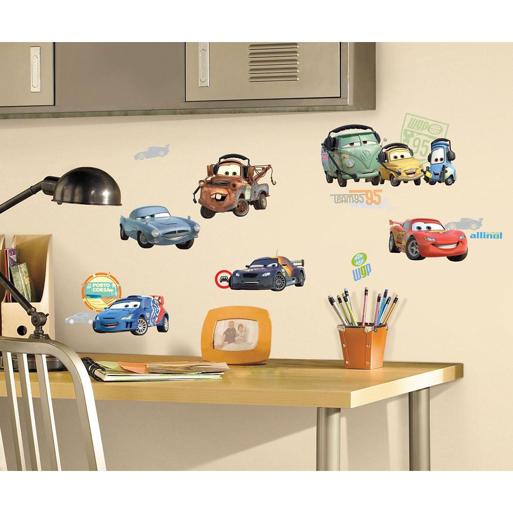 Disney-Cars 2 Peel & Stick Wall Decals