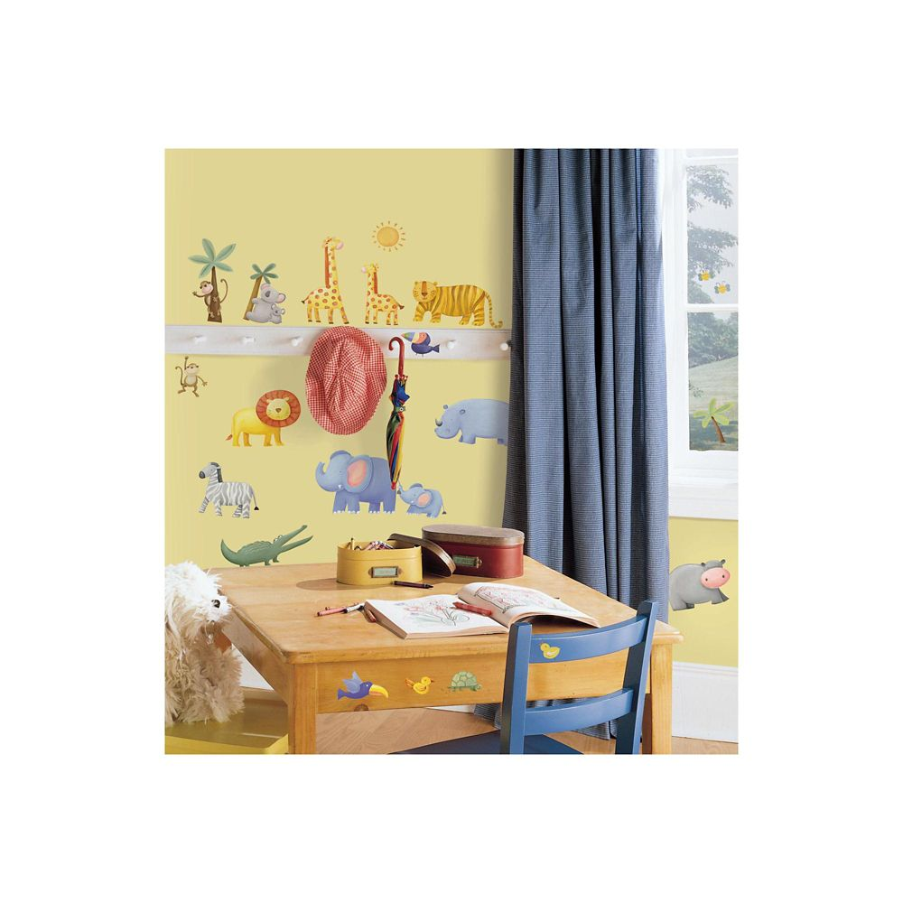 RoomMates Jungle Adventure Peel & Stick Wall Decals