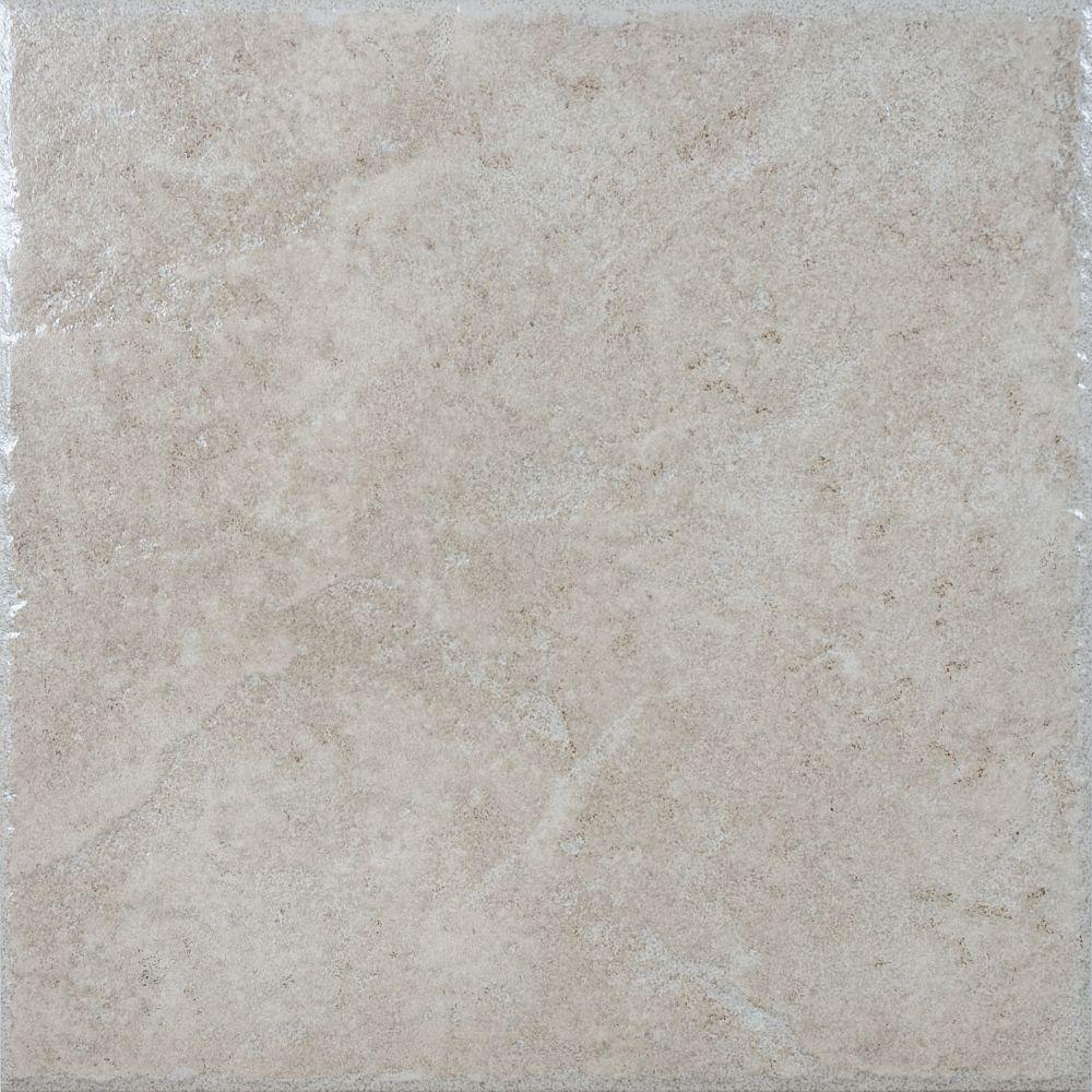 Carreaux en céramique beige Lagos de 13,1 po × 13,1 po - (13,11 pi. carré par caisse)