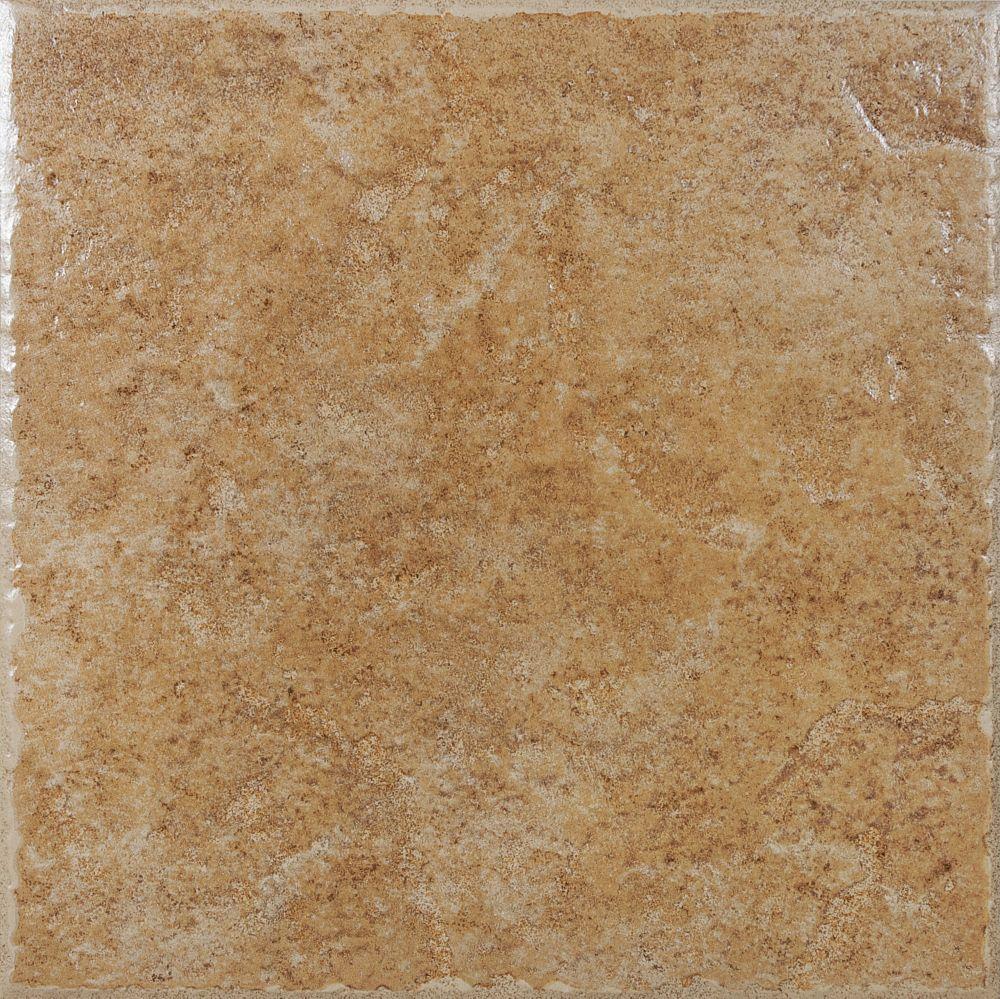 Lagos 13.1-inch x 13.1-inch Ceramic Tile in Walnut (13.11 sq. ft./case)