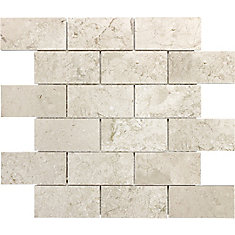 Polished Bottocino 2-Inch x 4-Inch Brick Mosaic Tile