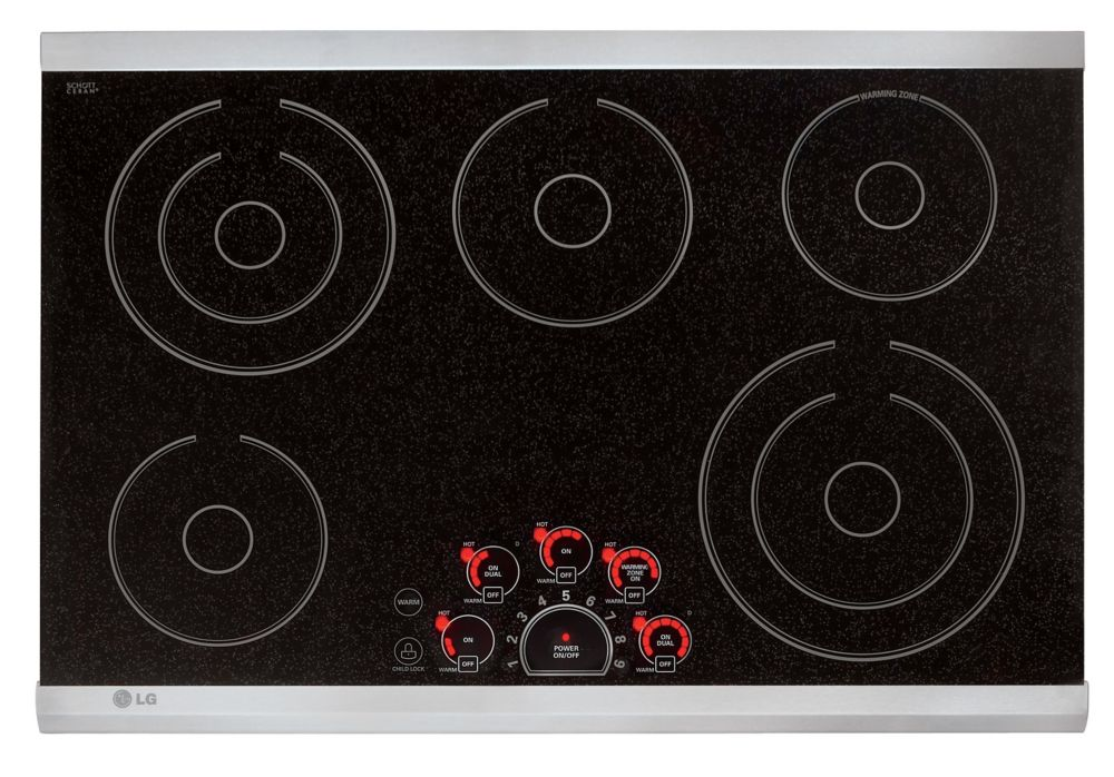 30-inch Radiant Cooktop in Stainless Steel