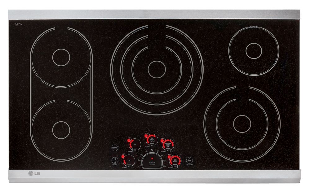 36 Inch Cooktops ~ Lg inch radiant cooktop in stainless steel the home