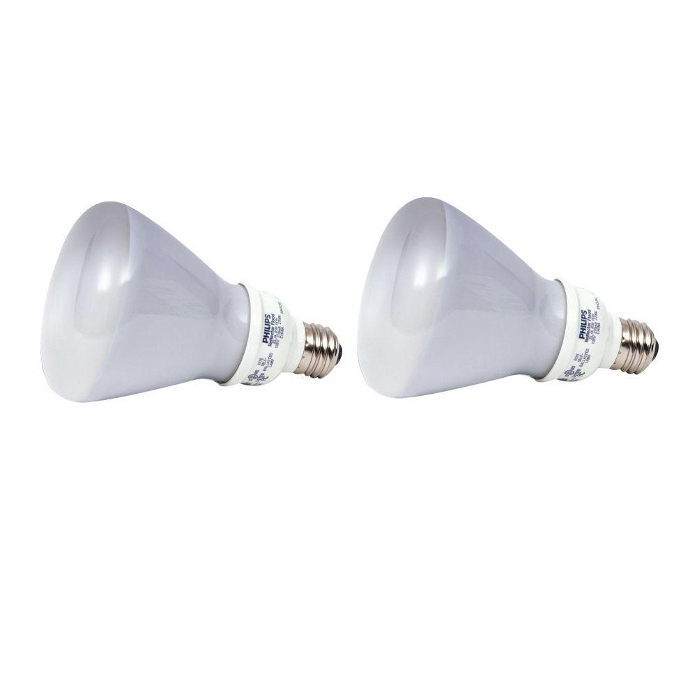 CFL 15W = 65W R30 Reflector Daylight (6500K) - 2 Pack