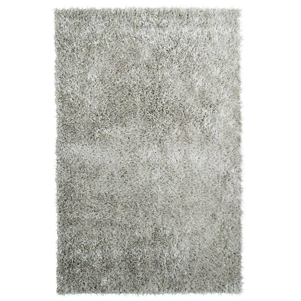 Lanart Rug City Sheen Grey 3 ft. x 4 ft. 6-inch Indoor Shag Rectangular Area Rug