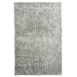 Lanart Rug City Sheen Grey 5 ft. x 7 ft. 6-inch Indoor Shag Rectangular Area Rug