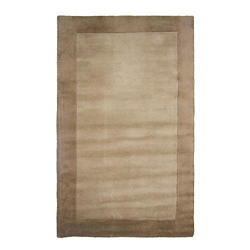 Clay Beige Tan 8 ft. x 10 ft. Indoor Textured Rectangular Area Rug