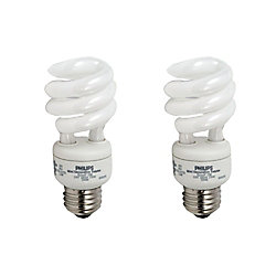 Philips CFL 13W = 60W Mini Twister Soft White (2700K) - (2-Pack)