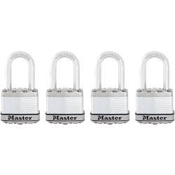 "Master Lock Master Lock Magnum Cadenas lamine 1-3/4"" with 1-1/2"" shackle  4Pk"