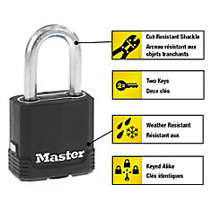 Magnum Covered Laminated Padlock 1-3/4 In. With 1-1/2 In. Shackle