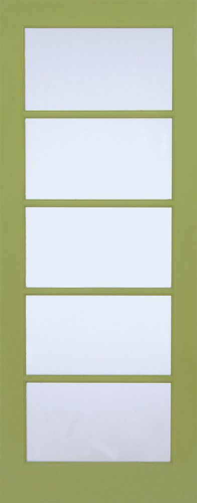 Milette 32-inch x 80-inch Primed 5 Lite Door with Privacy Screen Glass