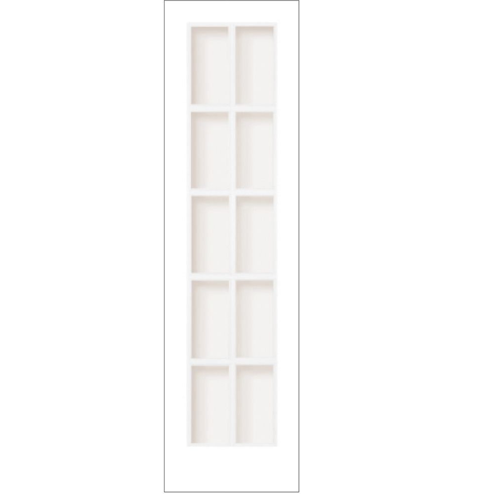 24-inch x 80-inch Primed 10 Lite Interior French Door with Clear Glass