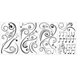 RoomMates Music Scroll Notes Peel & Stick Wall Decals