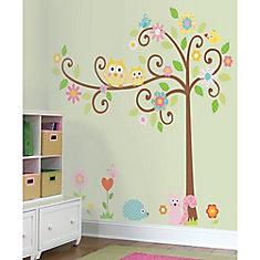 Stickers Muraux Happi Scroll Tree