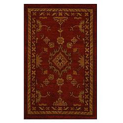 Lanart Rug Avenue Red 1 ft. 9-inch x 2 ft. 10-inch Indoor Traditional Rectangular Mat