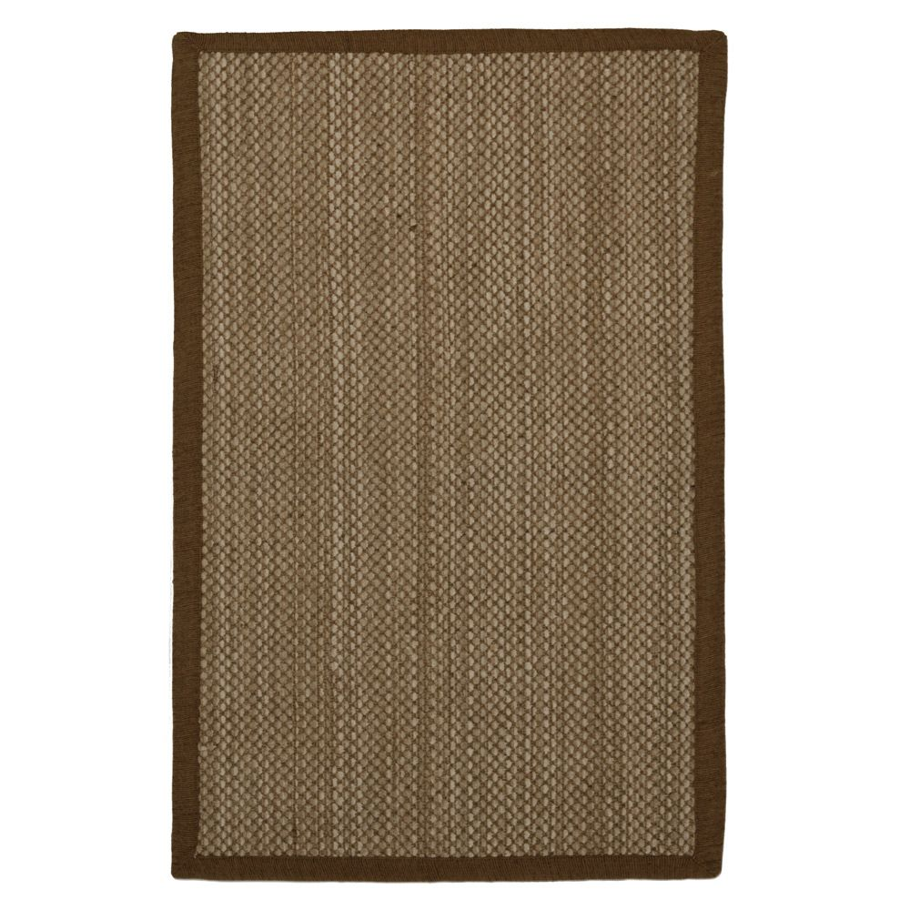 Chenille Sisal Accent Mat Brown - 27In x 48In