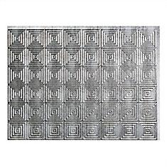 Miniquattro Crosshatch Silver 18 inch x 24 inch PVC Backsplash Panel